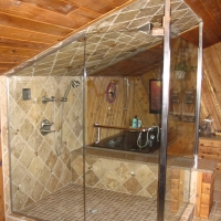 Custom Floor to Ceiling Glass Shower Enclosure